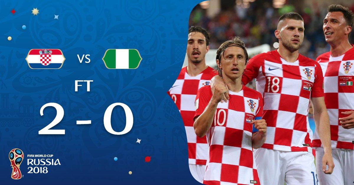 كرواتيا تستهل مشوارها في المونديال بالفوز على نيجيريا