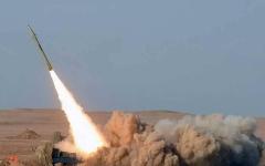 الصورة: السعودية ترصد صاروخا بالستيا أطلقه الحوثيون باتجاه جازان