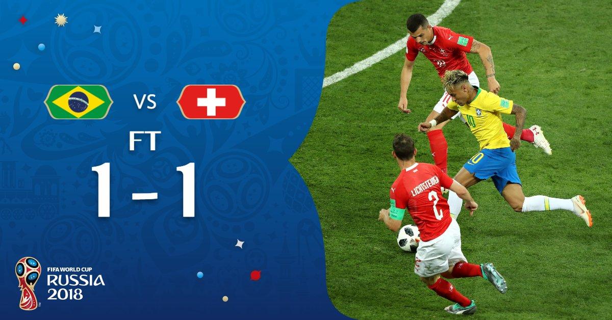 سويسرا تنتزع نقطة ثمينة من البرازيل