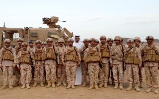 شخبوط بن نهيان يزور قواتنا في الحد الجنوبي للسعودية