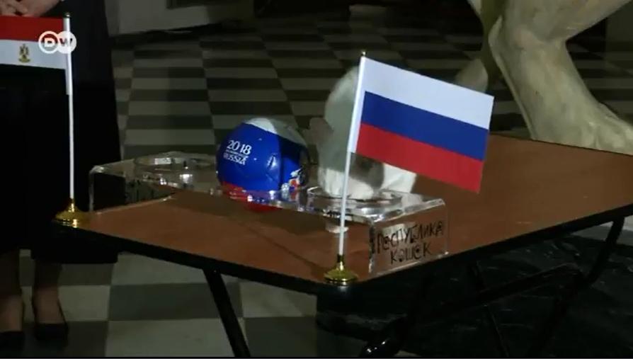 هكذا تنبأ القط الروسي أخيليس بنتيجة مباراة مصر وروسيا