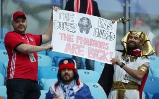 الصورة: أجواء احتفالية مصرية روسية في ملعب كريستوفسكي