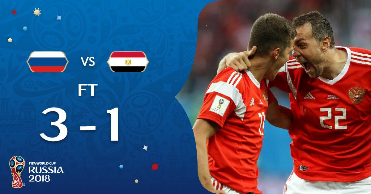 مصر تودّع المونديال بخسارة ثانية من روسيا