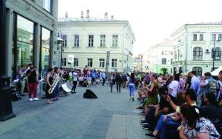 الصورة: فرق موسيقيةتمتع جمهور المونديال