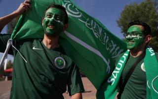 الصورة: أجواء سعودية أوروغوانية في روستوف أرينا