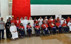 الصورة: استقبال حافل لأبطال «عالمية الكراسي المتحركة والبتر»