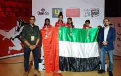 الصورة: 12 ميدالية لتايكواندو الفجيرة في عمّان