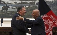 الصورة: بومبيو يفاجئ كابول بزيارة ويتعهد بدعم محادثات السلام