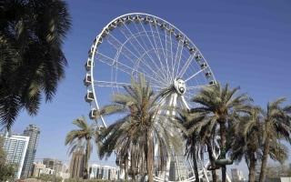 الصورة: «عين الإمارات» تنتقل   إلى حدائق المنتزه
