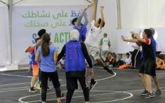 الصورة: مشاركة مجتمعية متميزة في مهرجان أبوظبي الرياضي