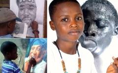 الصورة: «دافينشي نيجيريا» طفل في الـ11 ينتسب لأكاديمية الفنون