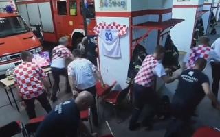 الصورة: مفاجأة في فيديو فريق الإطفاء الكرواتي