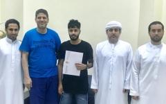الصورة: حسن عبد الرحمن ينضم إلى شقيقه حسين في عجمان