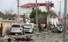 الصورة: قتلى وجرحى بانفجار قرب القصر الرئاسي في الصومال