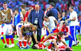الصورة: مدرب روسيا يغضب بسبب الحديث عن المنشطات