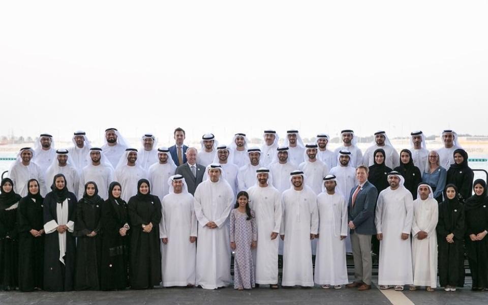 الصورة: محمد بن زايد: الإمارات بقيادة خليفة تمضي قدماًفي مسيرة التطور والازدهار