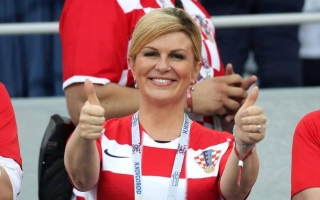 الصورة: رئيسة كرواتيا بطلة مونديال روسيا