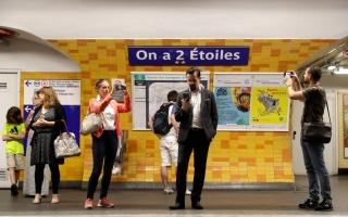 الصورة: محطات مترو باريس بأسماء أبطال العالم