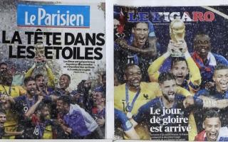 الصورة: الصورة: صحف فرنسا تشيد بأبطال العالم