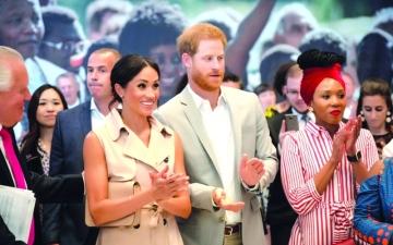 الصورة: هاري وميغان يزوران معرضاً بمناسبة مئوية مانديلا