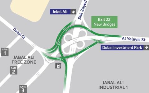 """الصورة: """"طرق دبي"""" تفتتح التقاطع السابع وشارعي اليلايس والأصايل 15 سبتمبر"""