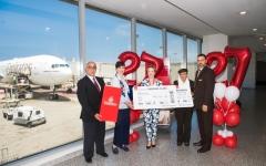 الصورة: طيران الإمارات تنقل 5 ملايين مسافر بين دبي وبيروت في 27 عاماً