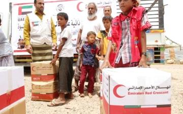 الصورة: مساعدات إماراتية للأسر الفقيرة في الضالع وشبوة