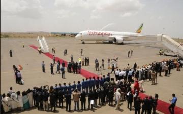 الصورة: طائرة السلام تحلّق بين إثيوبيا وإريتريا بجهود الإمارات