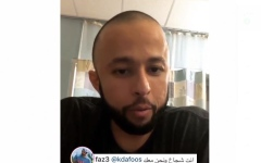 الصورة: حمدان بن محمد يتكفل بعلاج الشاب خليفة بن دعفوس