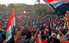 الصورة: تظاهرات العراق تتمدّد وتنادي بطرد إيران