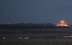 الصورة: إسرائيل تسقط مقاتلة سورية في سماء الجولان