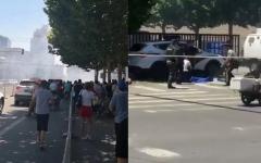 الصورة: انفجار في محيط السفارة الأميركية في بكين