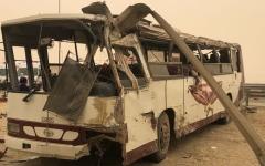 الصورة: وفاة 3 أشخاص وإصابة 44 في حادث تصادم بأبوظبي