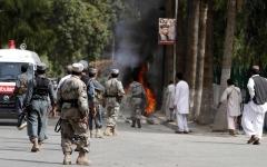 الصورة: مقتل 11 من طالبان في غارة جوية بأفغانستان