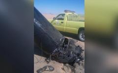 الصورة: الدفاعات الجوية السعودية تدمر صاروخاً حوثياً استهدف نجران