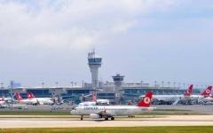 الصورة: اصطدام طائرة مغربية بأخرى تركية في مطار أتاتورك