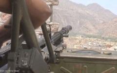 الصورة: طائرات التحالف تدمر مخزن سلاح تابعاً لميليشيا الحوثي