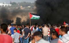 الصورة: شهيدان في جمعة «الحرية والحياة لغزة»