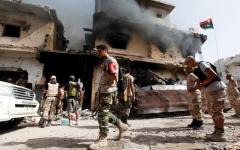 الصورة: حفتر: قطر تستخدم الميليشيات شوكة في خاصرة ليبيا