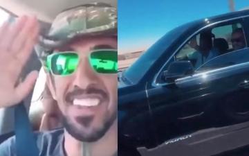 الصورة: شاهد..محمد بن سلمان يفاجئ شاباً سعودياً من أصحاب الهمم
