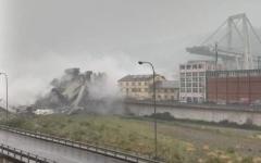 الصورة: عشرات القتلى إثر انهيار جسر للسيارات بإيطاليا