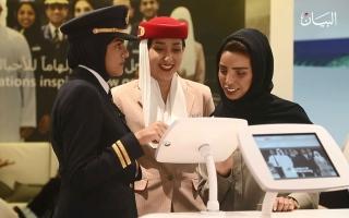 """الصورة: المرأة الإماراتية قصص نجاح على متن """"طيران الإمارات"""""""