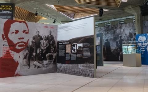 الصورة: معرض بريطاني يحتفي بمئوية مانديلا