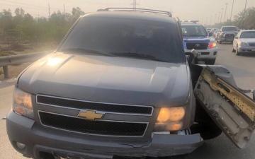 الصورة: إصابة 7 أشخاص من عائلة خليجية بحادث مروري  في أبوظبي