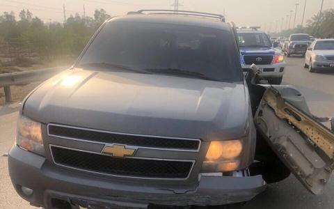 الصورة: إصابة 7 أشخاص من عائلة خليجية بحادث مروري