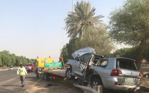 الصورة: إصابة مواطن في حادث مروري بأبوظبي