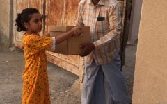 الصورة: أهالي منطقة الفحلين يطلقون مبادرة لرسم بهجة العيد على الأسر المتعففة