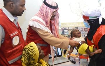 الصورة: حملة الشيخة فاطمة تعالج نساء وأطفال النيل الأبيض