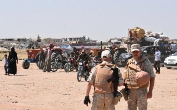 الصورة: «قسد» والتحالف يتأهبان لاقتحام جيوب «داعش» في البوكمال