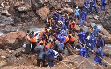 الصورة: حصيلة ضحايا فيضانات كيرالا تتخطى 400 قتيل